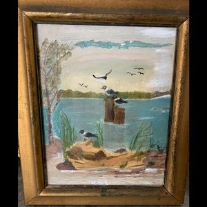 Small painting , signed